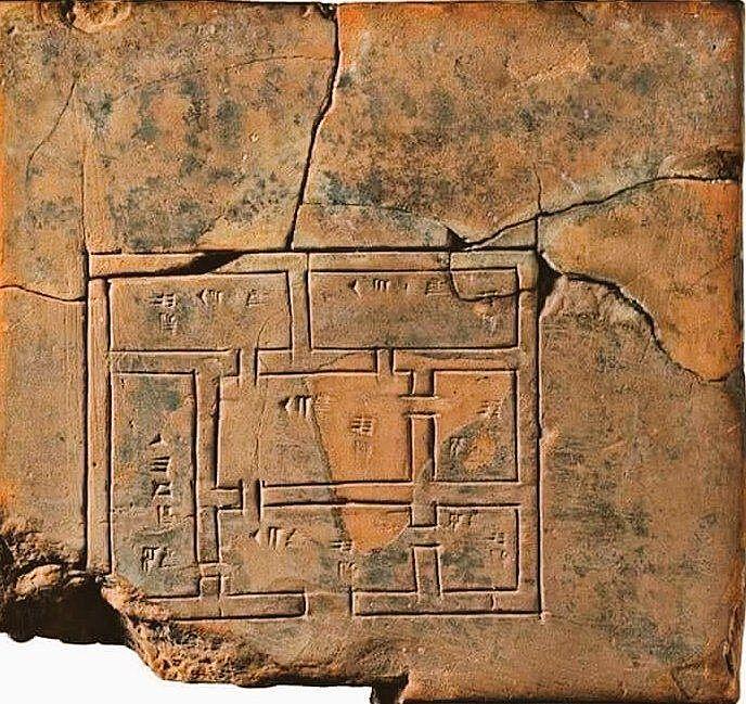 5000 yıllık sümerlere ait ev planı
