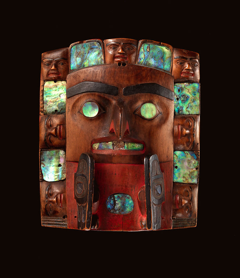 Amerikalı yerlilerin yağmur duası için giydiği maske, 1820