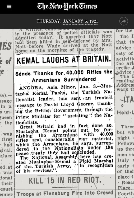 Atatürk'ün İngilizlerle alayı
