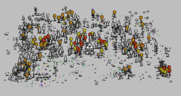 Kendi orman evinizi tasarladığınız oyun